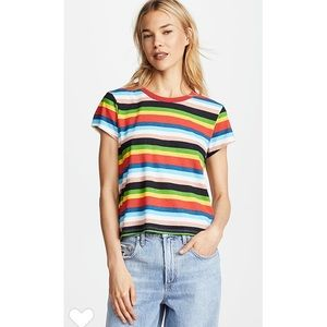 Pam & Gela Rainbow Striped top